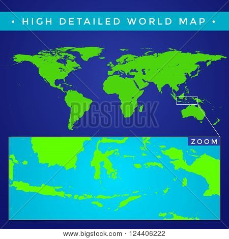 Vector High Detailed World Map.