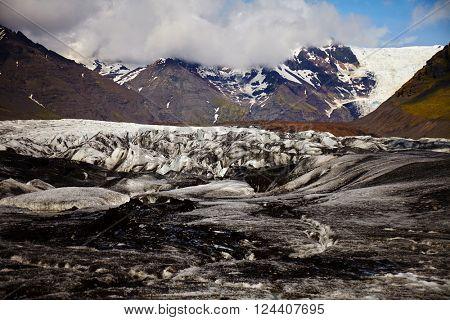 Svinafellsjokull glacier on Iceland
