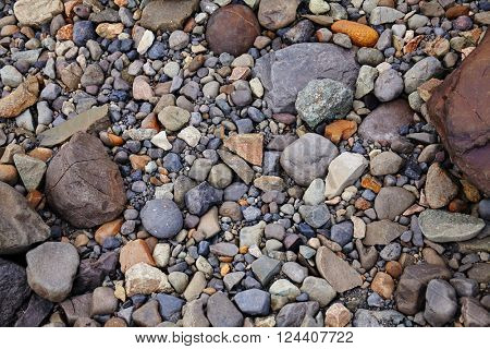 Background made of small and medium size stones