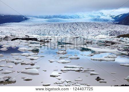 Glacier in south part of Iceland near jokulsarlon