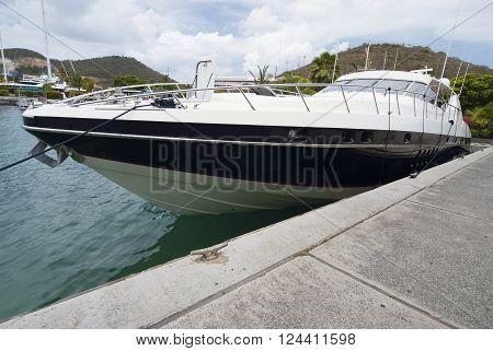Luxury yacht moored at St.Thomas, US Virgin Islands