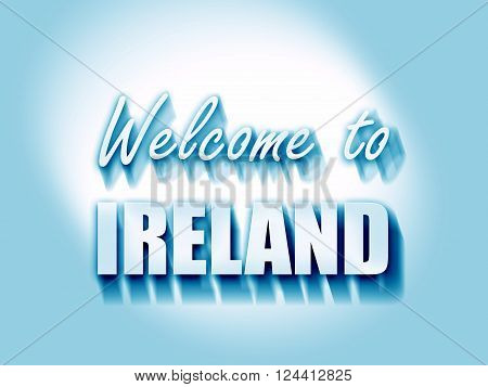 Welcome to ireland card with some soft highlights