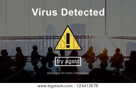 Virus Detected Protection Security Spyware Malware Concept