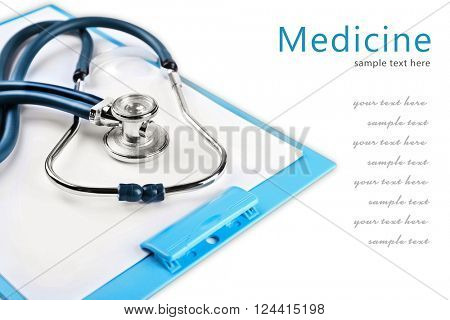 Medical supplies isolated on white