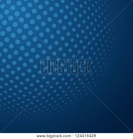 Abstract Halftone 3D Sphere with Circle Dots. Futuristic Design Element in Techno Style. Vector illustration.
