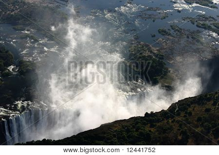 Victoria Falls from the sky