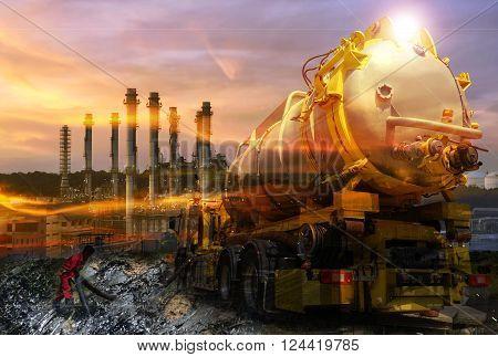 Oil Refinery ,petroleum plant in Thailand ..