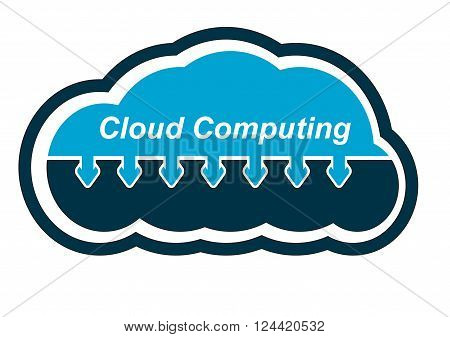 Cloud computing. Icons for document sharing solutions.