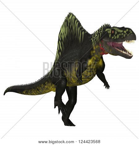 Arizonasaurus on White 3D illustration - Arizonasaurus was a sailback carnivorous archosaur that lived in Arizona North America in the Triassic Period.