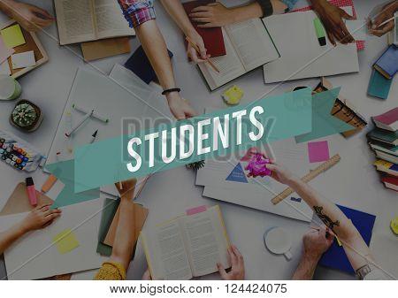 Students Student Academic Intern Novice Trainee Concept