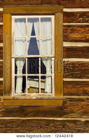 Old Log Cabin Window