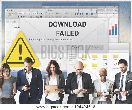 Download Failed Data Stop Loss Transfer Network Concept
