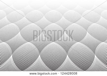 Tiled textured surface. Perspective view. 3D effect. Vector art.