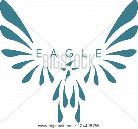 Vector Design Template Of Abstract Bird Eagle