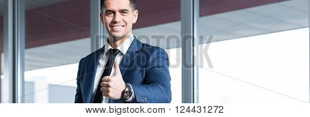 Happy Businessman After Successful Transaction