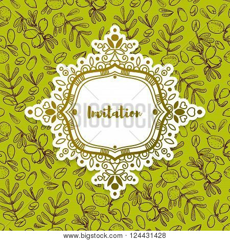 Wedding cards invitations for a bachelorette party in eco-style with argan tree