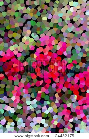 Colourful Various Shape Abstract Background In Pastel Colour Tone