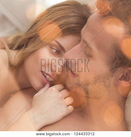 Romantic Honeymoon In Bed
