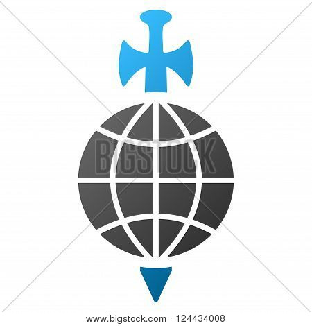 Global Guard vector toolbar icon for software design. Style is a gradient icon symbol on a white background.