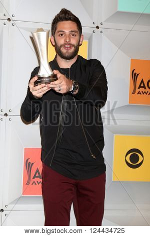 LAS VEGAS - APR 3:  Thomas Rhett at the 51st Academy of Country Music Awards at the MGM Grand Garden Arena on April 3, 2016 in Las Vegas, NV