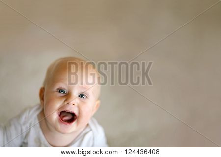 Happy Baby With Background For Copy-space