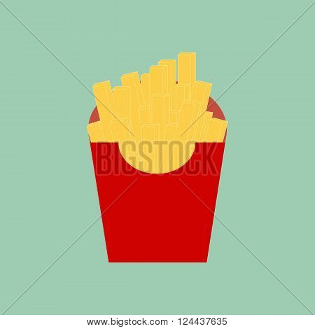 French Fries icon. Fried Potato. Vector illustration