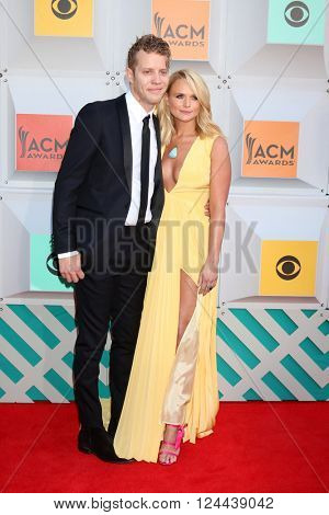 LAS VEGAS - APR 3:  Anderson East, Miranda Lambert at the 51st Academy of Country Music Awards Arrivals at the Four Seasons Hotel on April 3, 2016 in Las Vegas, NV