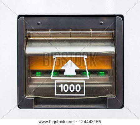 vending Machine banknote insert space