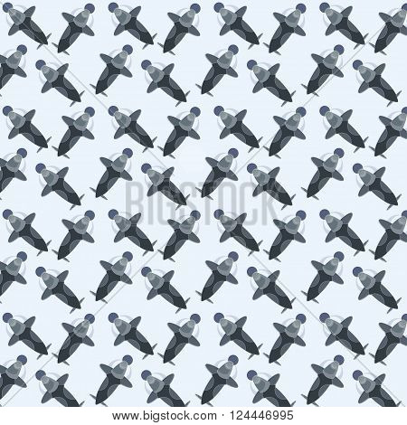 interstellar pattern, cosmos spaceship rocket vector pattern