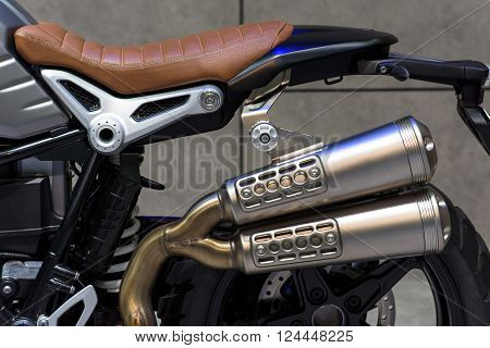 Modern Motorcycle Exhaust Pipe
