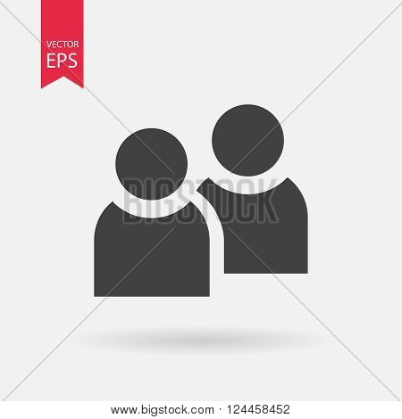 People icon, People flat icon, People web icon, People icon vector, People icon eps, People pictograph, People icon picture, People logo design, People icon art, People icon jpg. Vector illustration