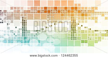 Block Abstract Background with Dynamic Digital Theme Art