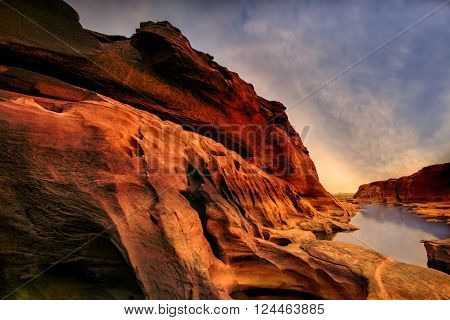 Thailand Grand canyon landscape sunset view .