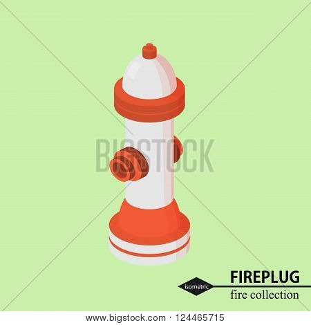 fire hydrant for fire fighting. Isometric vector illustration