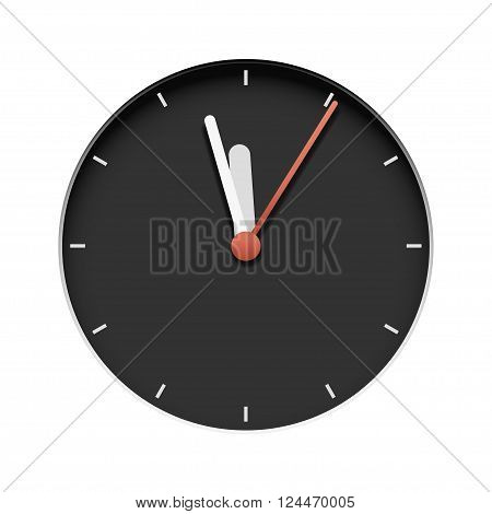 illustration of extruded classic clock on yellow background