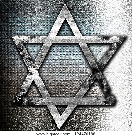 Grunge metal Star of david with some soft flowing lines