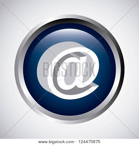 arroba button design, vector illustration eps10 graphic