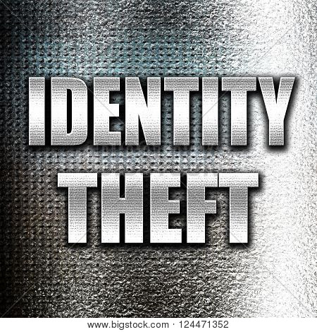 Grunge metal Identity fraud background with some smooth lines