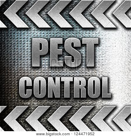 Grunge metal Pest control background with some smooth lines