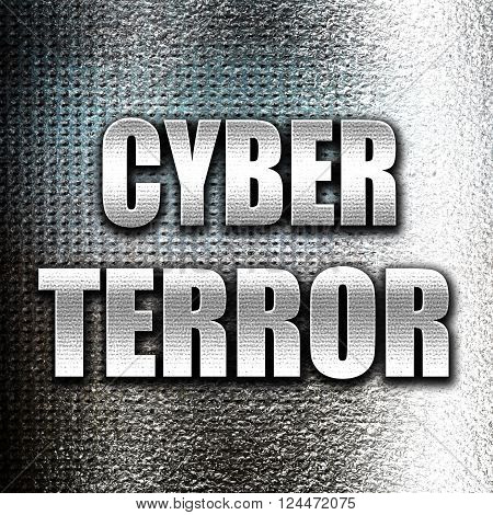 Grunge metal Cyber terror background with some smooth lines