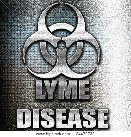 Grunge metal Lyme virus concept background with some soft smooth lines