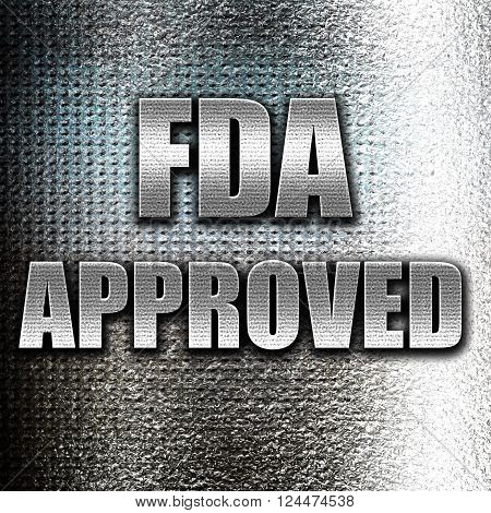 Grunge metal FDA approved background with some smooth lines