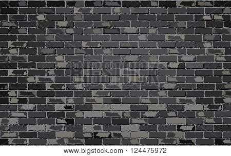 Black brick wall - Illustration, 