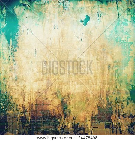 Vintage background - dirty ancient texture. Antique grunge backdrop with different color patterns: yellow (beige); brown; green; blue; white