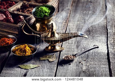 Aladdin Lamp And Spices