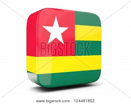 Square Icon With Flag Of Togo Square. 3D Illustration