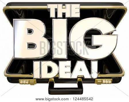 The Big Idea Concept Proposal 3d Words Briefcase Opening
