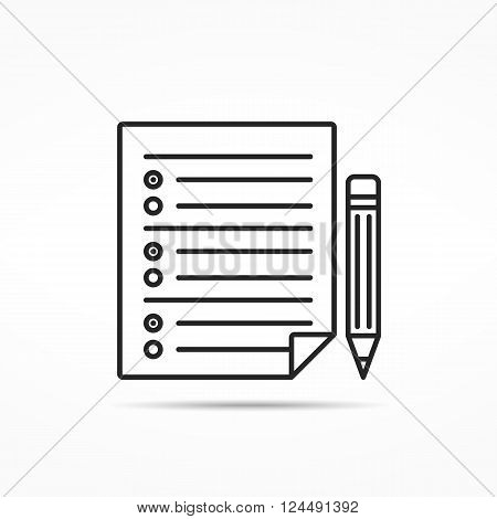 Survey minimal line icon, vector eps10 illustration