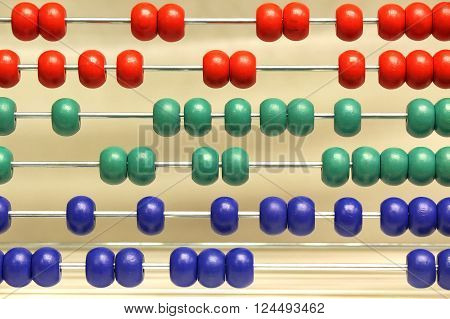 Abstract Colorful Abacus for wall paper or background