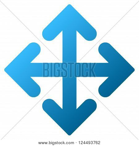 Direction Variants vector toolbar icon for software design. Style is a gradient icon symbol on a white background.